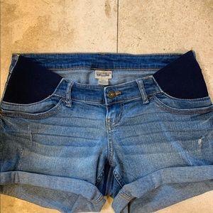 Indigo Blue Maternity Jean shorts Size S